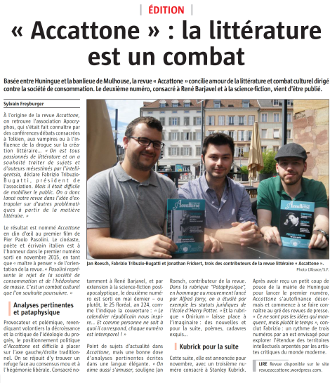 Article L'Alsace 12.07.2016