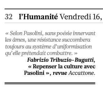 L'Humanité, 16/10/2015